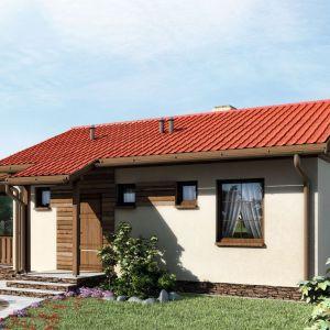Powierzchnia użytkowa domu jest porównywalna z przeciętnej wielkości mieszkaniem w bloku. Fot. Artinex Projekt