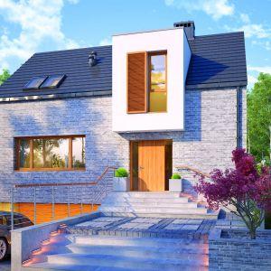 Nel – projekt nowoczesnego domu dla dużej rodziny, która ceni sobie wygodę i funkcjonalność. W piwnicy zlokalizowano 25-metrową część gospodarczą oraz dwustanowiskowy garaż o powierzchni 40 metrów kwadratowych. Projekt i zdjęcie: Dobre Domy Flak & Abramowicz