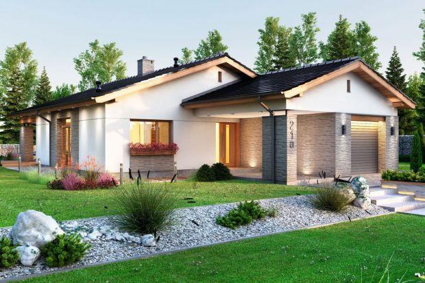 Projekt małego domu parterowego z garażem