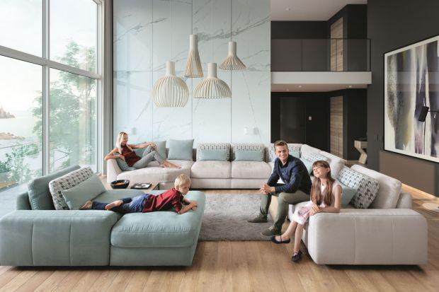 Wygodna kanapa, narożnik czy zestaw mebli modułowych jest nieodzowny w rodzinnym salonie.