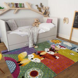 Dziecięcy dywan Diamond Fox wniesie radość i energię do pokoju dziecka, dzięki wyrazistej gamie barw. Fot. Komfort