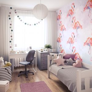 Ścienne panele dekoracyjne Motivo to sposób na szybką metamorfozę pokoju dziecka, dostępne w różnych wzorach, m.in. Painted Flaming. Fot. Vilo