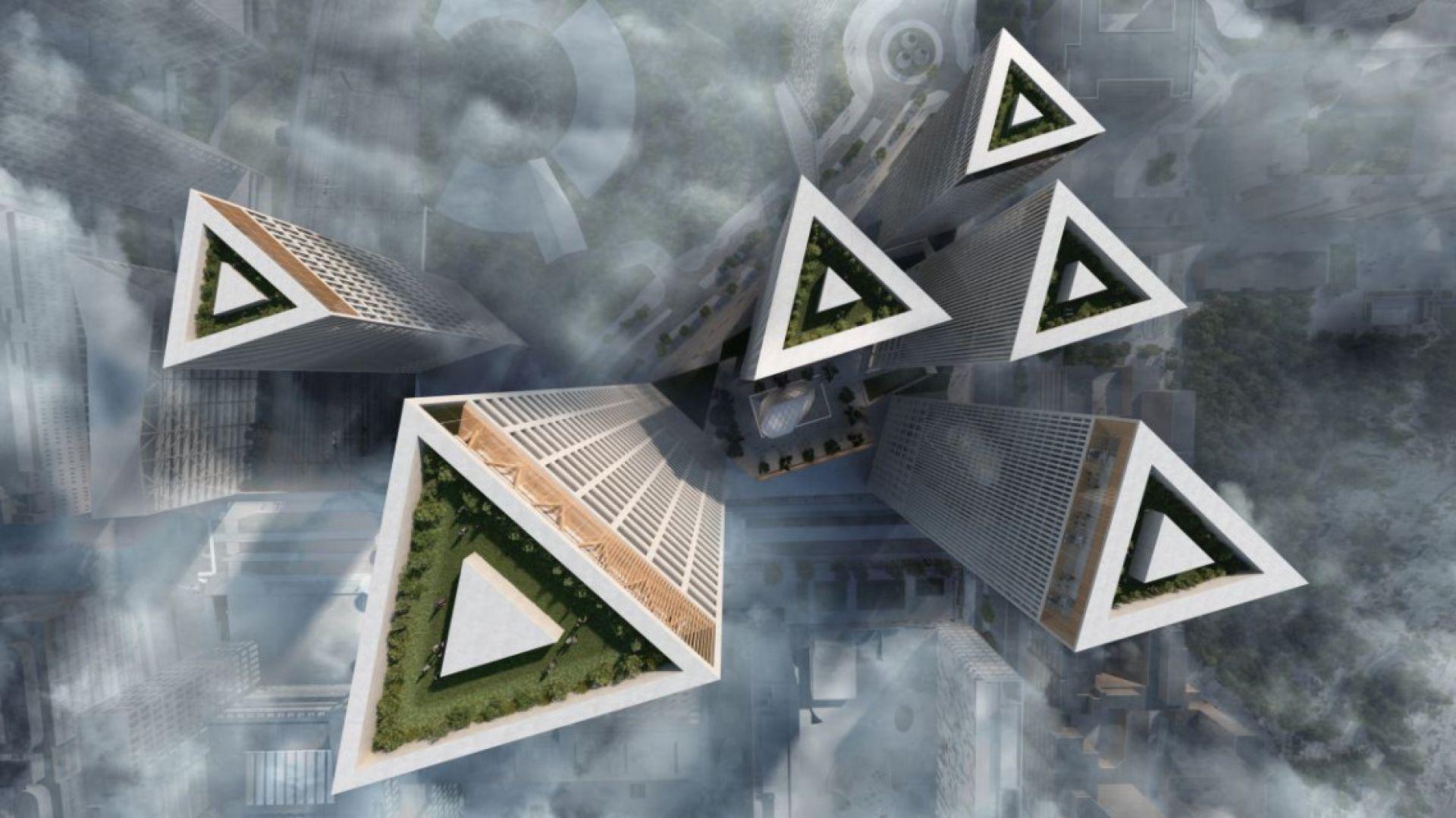 Wieże Trigoni w Helsinkach. proj. Lahdelma&Mahlamäki Architects. Wiz. Brick Visual