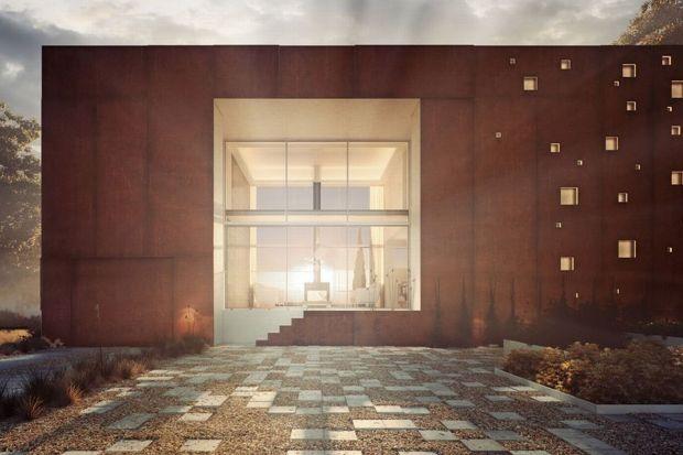 Dom-rama to świetny przykład nowoczesnej architektury nawiązującej do czasów PRL. Projekt warszawskiej pracowni 81.WAW.PL został oparty na niekonwencjonalnych założeniach. Konstrukcja prostopadłościennej bryły nawiązuję do znanej kostki mazow
