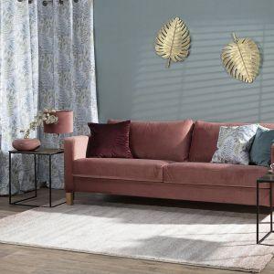 Kolory we wnętrzach to nie tylko odcienie ścian, ale również kolorowe dodatki, meble czy akcesoria; na zdj. dekoracja ścienna Leaf Gold. Fot. Dekoria
