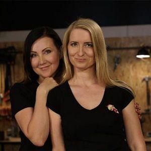 """Beata Łańcuchowska oraz Anna Drozd, czyli Beti i Ania -  projektantki wnętrz, autorki bloga """"Pani to potrafi"""". Fot. Pani to potrafi"""