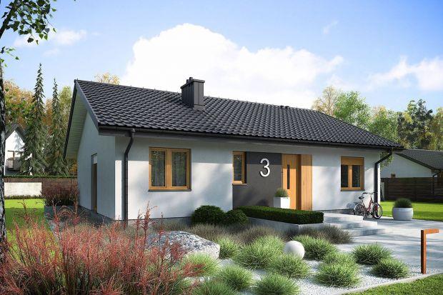 Mały, tani dom parterowy. Zobacz projekt i wnętrza