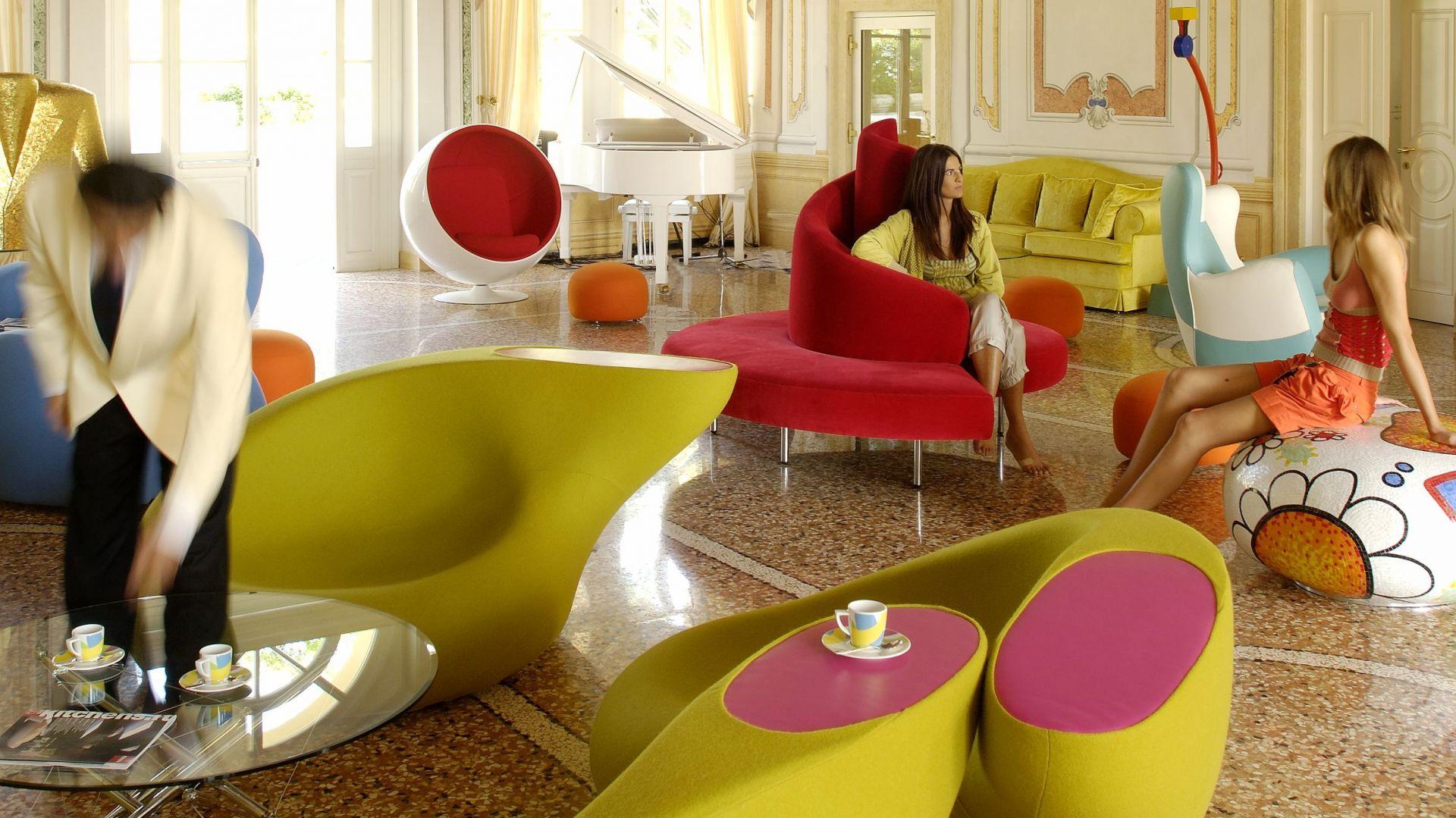 Wnętrza Byblos Art Hotel Villa Amista zaprojektowane przez Dorotę Koziarę