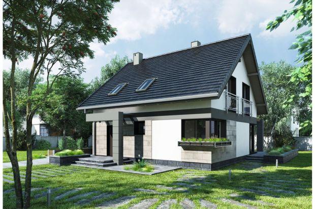 Projekt domu Melinda przeznaczony jest dla osób planujących budowę małego, nowoczesnego domu z użytkowym poddaszem o energooszczędnej bryle, bez garażu, a przy tym z dużym pokojem dziennym.