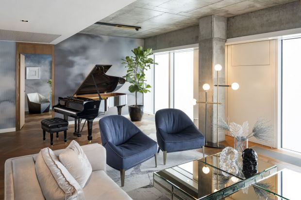 Wnętrze apartamentu Oxygen zachwyca przemyślaną w każdym detalu koncepcją aranżacyjną, za którą stoją Małgorzata Muc i Joanna Scott – architektki z pracowni Muc & Scott Interiors.