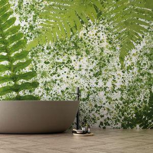 Nowoczesne tapety z wzorem roślinnym: kolekcja Graceful. Fot. Dekorian Home