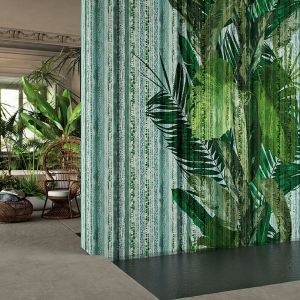 Nowoczesne tapety z wzorem roślinnym: kolekcja Glamora  Garden Party . Fot. Dekorian Home