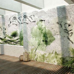 Nowoczesne tapety z wzorem roślinnym: kolekcja Glamora Metis. Fot. Dekorian Home