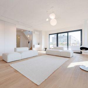 Ideą projektu tego mieszkania było połączenie komfortu z surową elegancją. Fot. Nobonobo