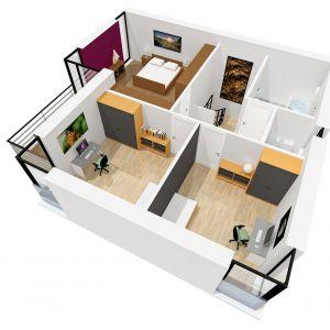 Rzut piętra. Dom EX 2 Soft. Projekt arch. Artur Wójciak. Fot. Pracownia Projektowa Archipelag