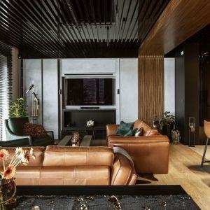 Piękne, stylowe wnętrze: przestrzeń wypoczynkowa. Projekt: Magdalena Młynarska. Fot. Yassen Hristov/Hompics.com