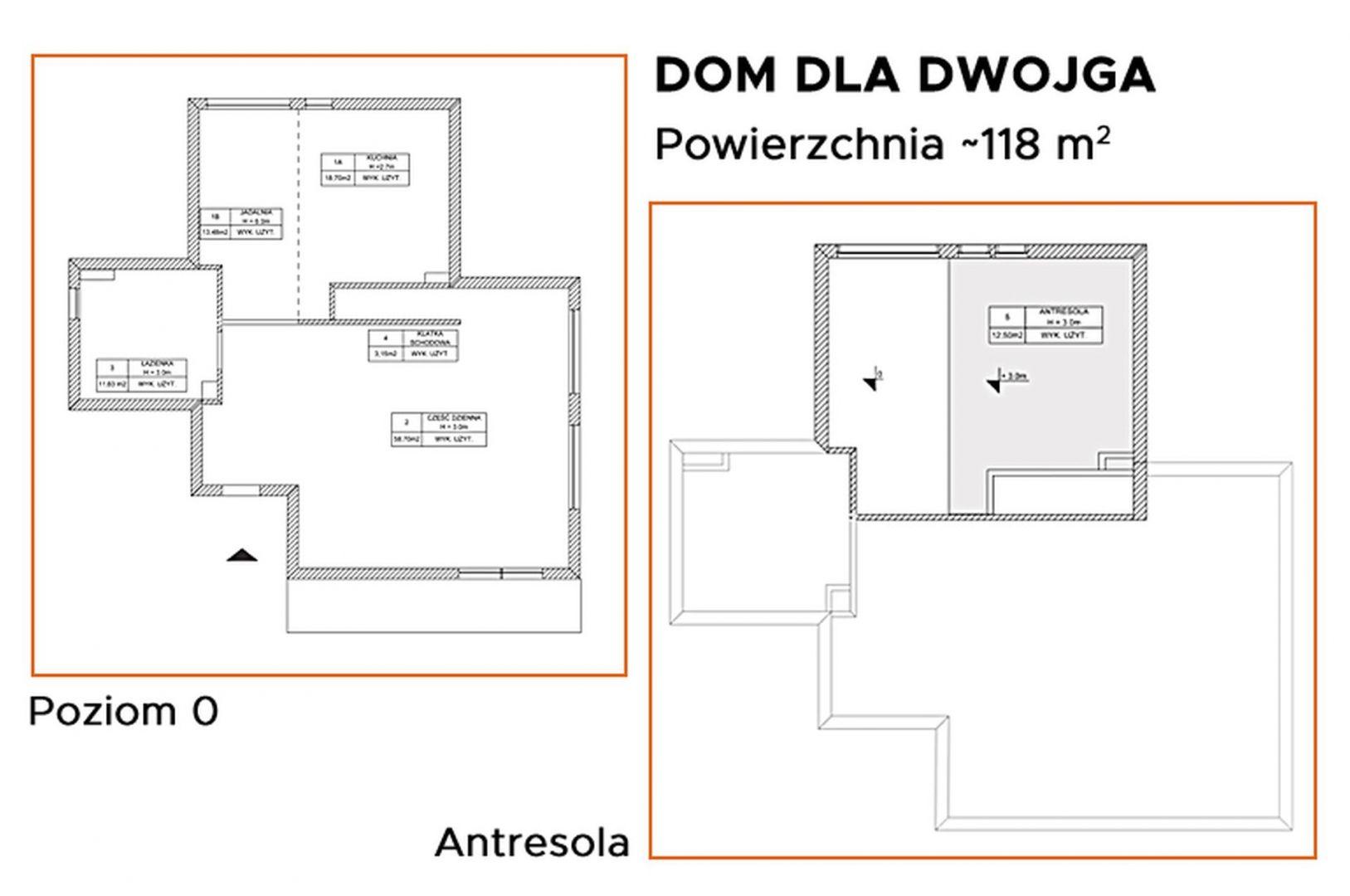 """""""Konkurs dla architektów i projektantów wnętrz – użytkowników programu CAD Decor"""" - Zaprojektuj dom dla dwojga. Rzut mieszkania"""