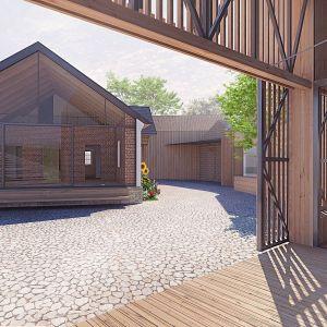 Dom Stary otwarty na taras kominkowy. Fot. BXBstudio Bogusław Barnaś
