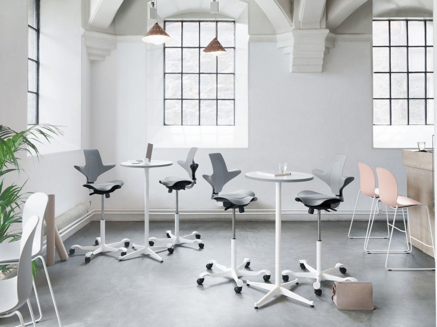 Krzesło HÅG Capisco Puls, w którym kubełek pochodzi z plastiku z recyklingu. Fot. Flokk Polska