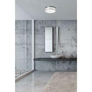 Montując oświetlenie w łazience wiele osób decyduje się jedynie na górne źródło światła umieszczone w centralnej części pomieszczenia. Fot. Nowodvorski Lighting