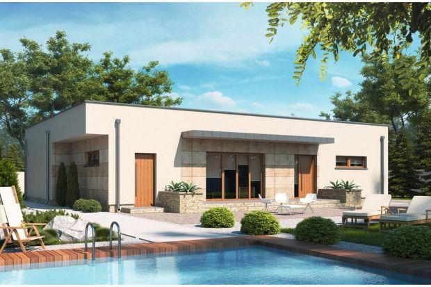 Projekt D135 jest funkcjonalnym domem parterowym z nowoczesną architekturą, przeznaczonym 4-osobowej rodzinie.