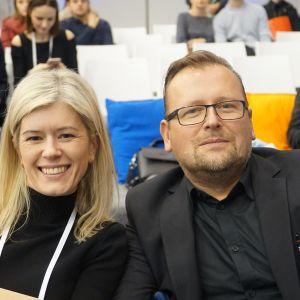Ewa Kozioł, redaktor naczelna Dobrze mieszkaj/Świat łazienek i kuchni, Seweryn Nogalski, architekt