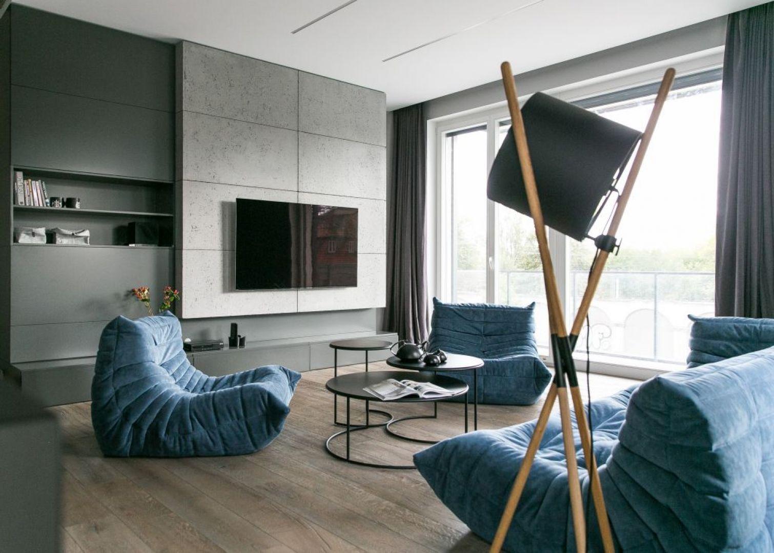 Wnętrze w nowoczesnym stylu: salon. Projekt: Joanna Zabłocka. Fot. Zawrotniak-Kucharska