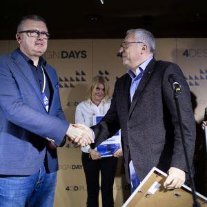 Exhibitor Design Award 2020 - wyróżnienie za najciekawsze stoisko targowe 4 Design Days dla firmy Verdandino.