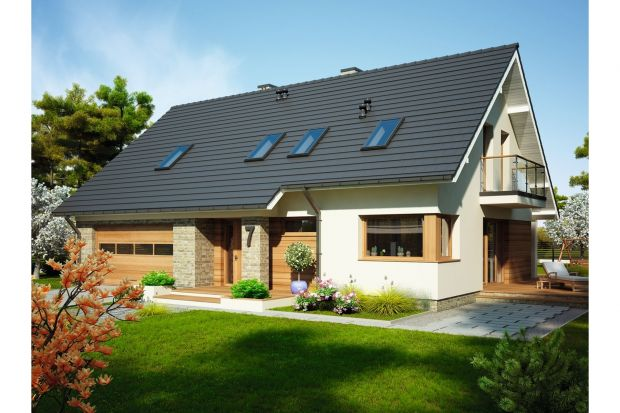 Emilia Mała II to projekt domu jednorodzinnego z poddaszem użytkowym, dla 4-6-osobowej rodziny.