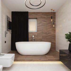 Ściany w łazience: propozycja numer 5. Projekt: Kaza Interior Design. Fot. Przemysław Kuciński