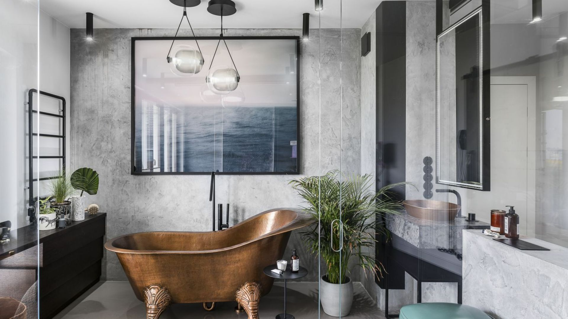 Ściany w łazience: propozycja numer 1. Magdalena Bielicka, Maria Zrzelska-Pawlak, Pracownia Magma. Fot. Fotomohito