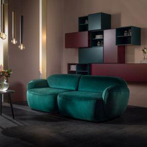 Modna kanapa w salonie. Sofa Bubble 3-osobowa. Fot. MTI-Furninova