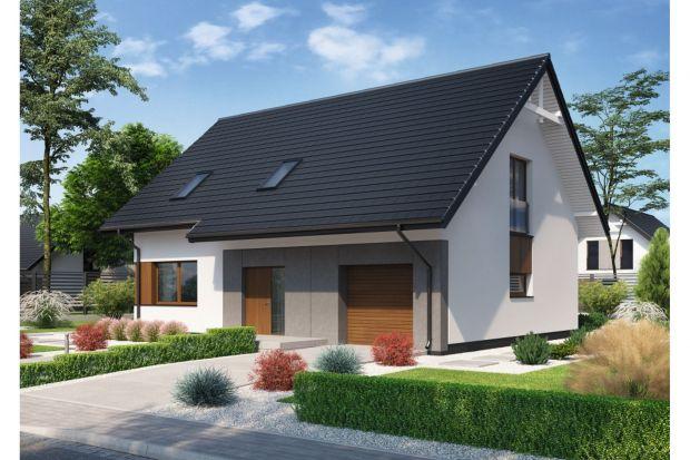 Domena 202 A to projekt domu z poddaszem użytkowym i garażem na jeden samochód. Charakteryzuje go zwarta, nowoczesna bryła, przykryta dwuspadowym dachem.