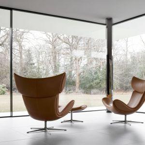 Nowoczesny salon: skórzany fotel Imola marki BoConcept. Fot. BoConcept
