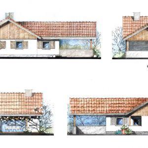 Elewacje domu. Projekt: arch. Sylwia Strzelecka. Fot. S&O Projekty Sylwii Strzeleckiej