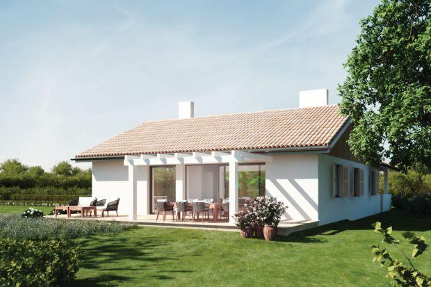 Mały domek z gankiemN13mb - to budynek parterowy, bez piwnic i bez poddasza. Przeznaczony dla małej rodziny lub jako drugi dom na letnie i zimowe wyjazdy na działkę.