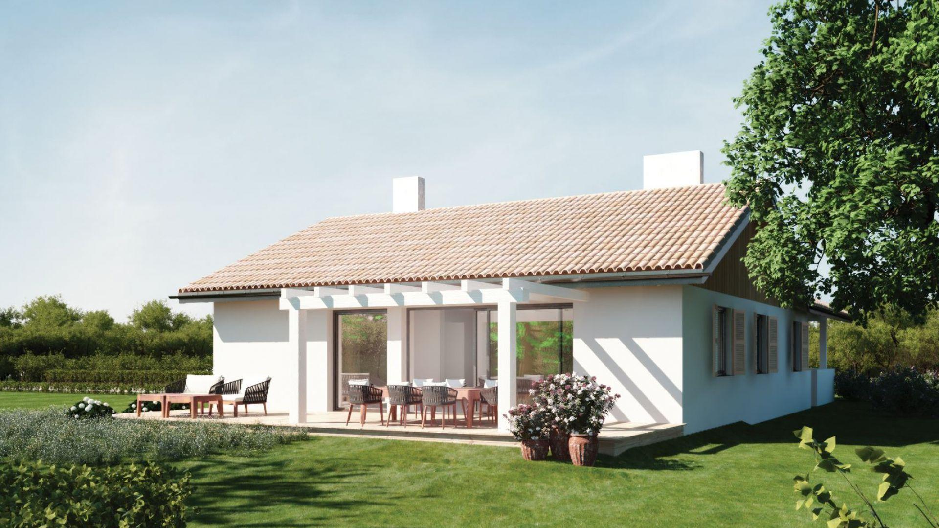 Mały dom parterowy N13mb. Projekt: arch. Sylwia Strzelecka. Fot. S&O Projekty Sylwii Strzeleckiej