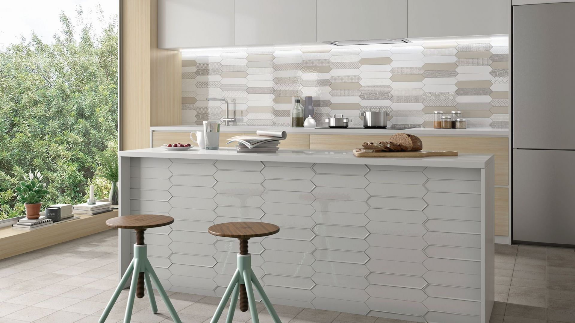 Płytki do kuchni marki Estudio Ceramico, kolekcja Naima. Fot. Estudio Ceramico