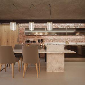 Wnętrze w stylu loft: konglomerat kwarcytowy TechniStone Ambiente Light. Fot. Technistone