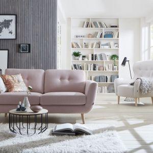 Meble w stylu skandynawskim: sofa Smile Button, fotel  Ellen. Fot. MTI-Furninova