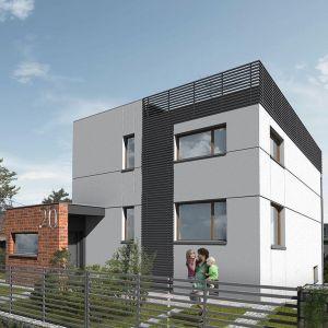 Projekt przebudowy domu typu kostka polska, który mieści się w Rudzie Śląskiej. Fot. Dekop Pracownia Architektury