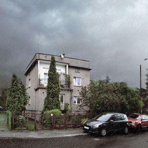 Ten dom w Dąbrowie Górniczej jest już w trakcie przebudowy. Stara kostka polska zyska niedługo nowe życie. Fot. Dekop Pracownia Architektury