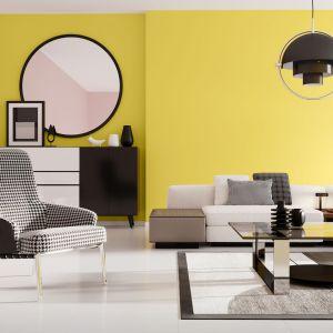 """Połączenie koloru żółtego zróżem, np. """"Energicznej"""" i """"Modnej"""" zpalety barw Śnieżki Plamoodpornej to propozycja do wnętrza inspirowanego z pop-artem. Fot. Śnieżka"""
