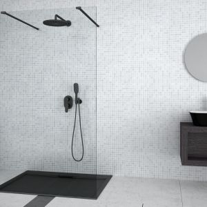 Kabina prysznicowa walk in Aveo_Due dostępna w ofercie firmy Besco. Fot. Besco