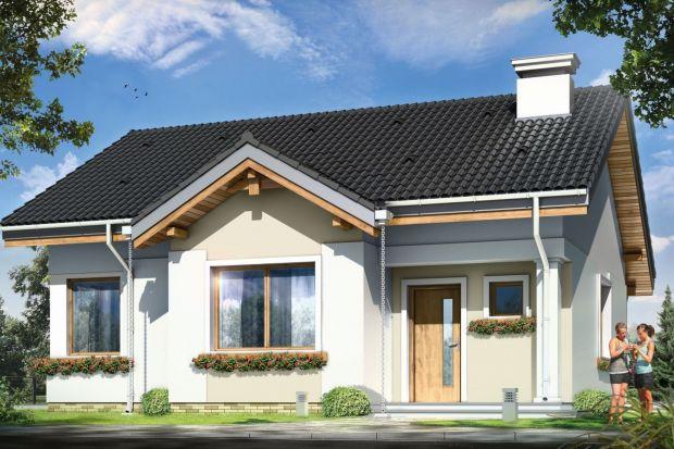 Cypisek to propozycja niewielkiego domku jednorodzinnego dla 3-4-osobowej rodziny. To dom o prostokątnej bryle, przekrytej dwuspadowym, symetrycznym dachem.