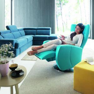 Fotele z funkcją relaksu:model Innari ze sterowaniem manualnym, jak i elektrycznym. Fot. Gala Collezione