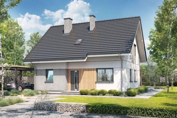 Dom w Zieliskach ver.2 to projekt jednorodzinnego domu z poddaszem użytkowym, bez garażu. Budynek charakteryzuje zwarta bryła, przykryta dwuspadowym dachem.