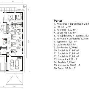 Rzut domu  Alison III G2. Projekt: arch. Artur Wójciak. Fot.  Pracownia Projektowa Archipelag