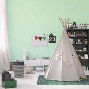 Malujemy pokój dziecka: farba Jedynka Deco & Protect kolor Miętowy aromat. Fot. Jedynka