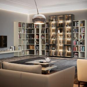 Mega Design to koncepcja mebli zapewniająca maksimum miejsca do przechowywania. Fot. Hülsta